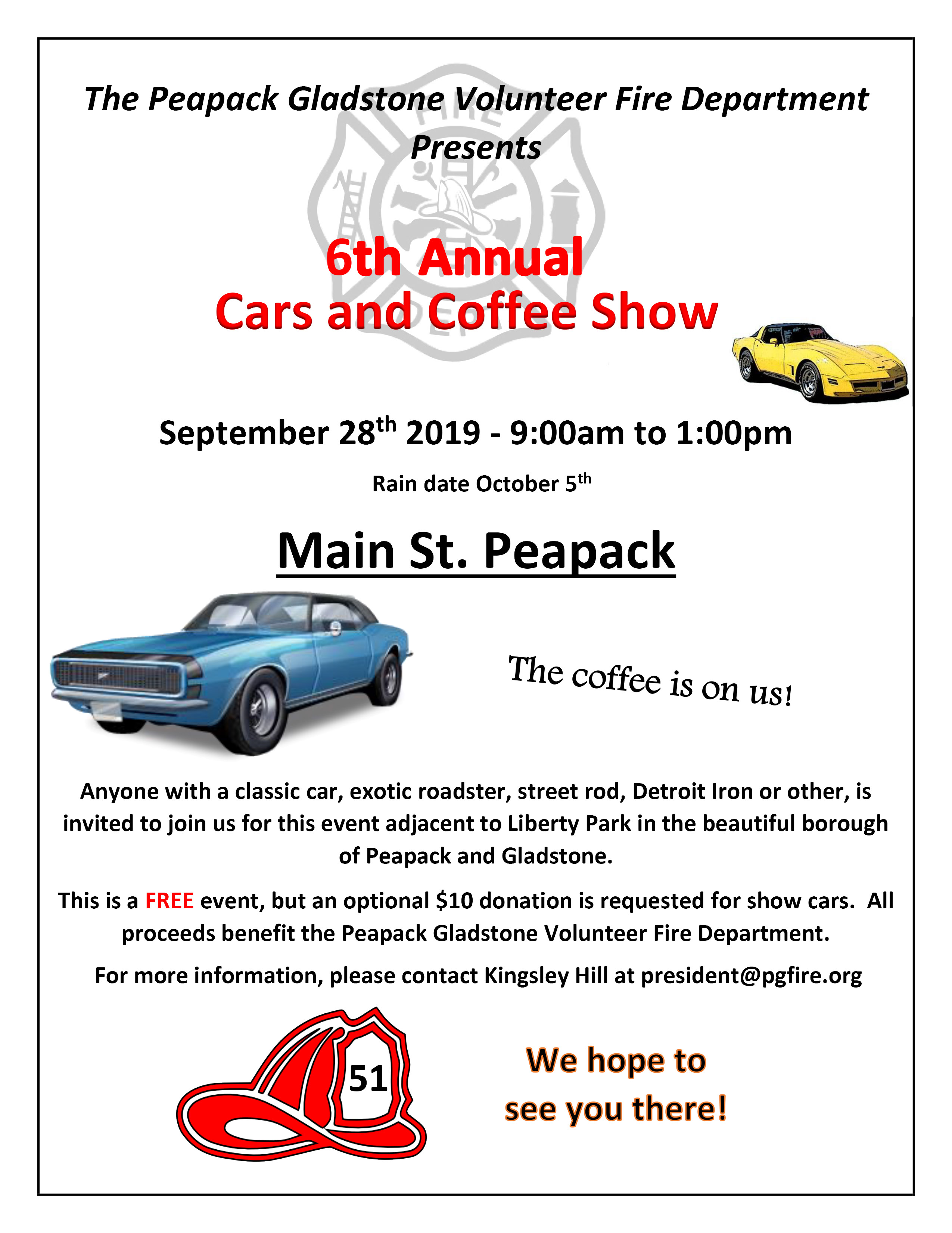 PG Volunteer Fire Department 6th annual Car Show
